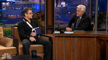 Video: Matt Damon on Leno – Mountain Biking Crash