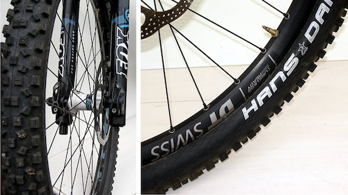 DT Swiss AM wheel and Hans Damf tire