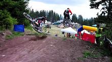 Crash: Scott Beaumont At 4X ProTour