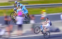 The 3 Times Mountain Bikers Stole the Show at the Tour de France