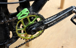 Spotted: OneUp's ultralight chain guide and 11-speed cassette - Crankworx Whistler, 2015