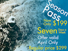 Whiteface Mountain Bike Parks' Aprils Season Pass Sale