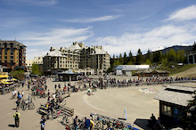 The Camp of Champions at Opening Day of The Whistler Bike Park