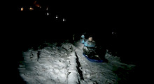 Specialized AllRide Academy GoPro sledding into the New Year