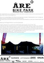 Team Åre bikepark/W-racing signs with Intense cycles