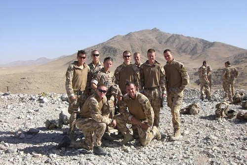 Ben Deakin and his Royal Marine Commando Troop in Afghanistan