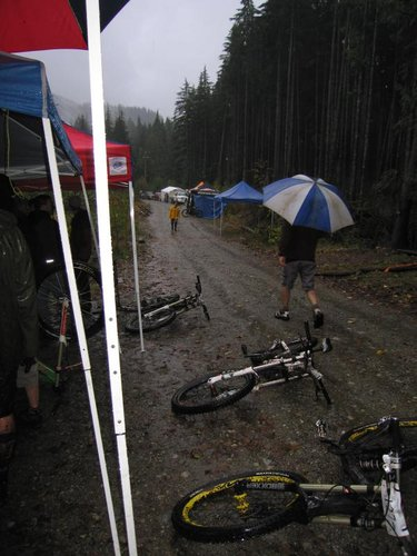 The weather never really got brighter through out the day, but the riders loved it